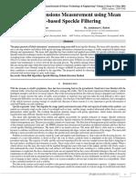 Pothole Dimensions Measurement Using Mean Shift Based Speckle Filtering