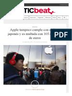 Apple Tampoco Cumple Con El Fisco Japonés y Es Multada Con 118 Millones de Dólares