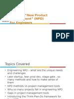 NPD Methods vs Project Management Tools - Entroids