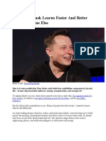 How Elon Musk Learns Faster and Better Than Everyone