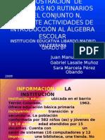 DEMOSTRACIÓN EN ACTIVIDADES DE INTRODUCCIÓN AL ÁLGEBRA ESCOLAR
