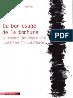 Du bon usage de la torture, Michel Terestchenko, 2008, fr, PDF