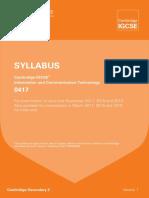 IGCSE Syllabus