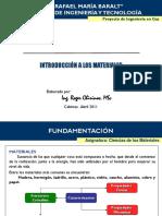 Tema 1 Introduccion a Los Materiales