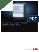 1MRK504126-UEN - En Commissioning Manual Transformer Protection RET650 IEC