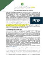 Edital 001 2016 Do Concurso Público Do Ifb