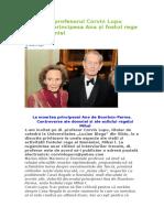 Dialog Cu Profesorul Corvin Lupu Despre Principesa Ana Și Fostul Rege Al României