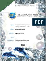 Proyecto de Reutilizacion de Desechos Reciclados (Papel)