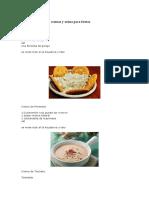 6 Diferentes Tipos de Cremas y Salsas Para Fiestas