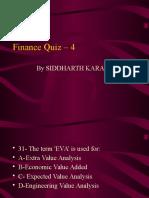 Finance Quiz 4