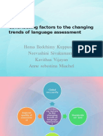 Contributing Factors to the Changing Trends of Language