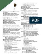 Warmachine Short Rules Checklist