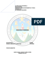 OXACIDOS COMUNES