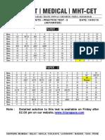 Aits - Practice Test - 5 (Adv) _ Answer Key - Dt. 19-05-2016