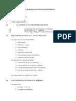 Indice Plan de Negocios de Exportacion
