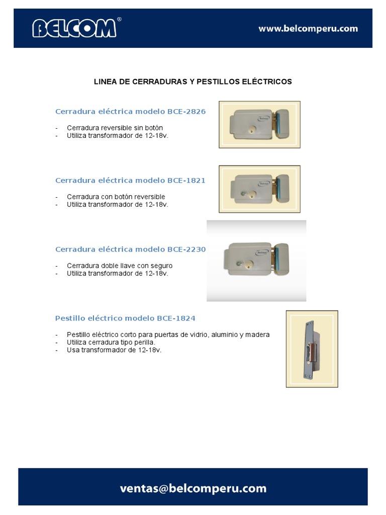 Tipos de pestillos electricos para puertas