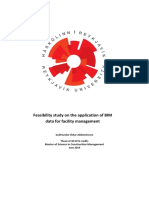 Feasability Study of Application of BIM Data for Facility