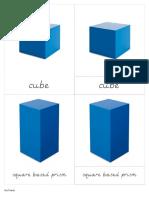 Geometric Solids Nomenclature Cards - D'Nealian