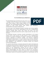 Press Release MedOANet European Workshop Final