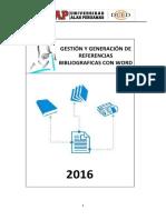 4.Gestión y Generación de Referencias Bibliograficas Con Word