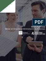 PDF Programa Curso Mba Madrid Full Time Doble Titulo Universitario