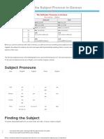 Finding the Subject Pronoun in German