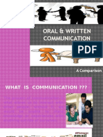 Oral & Written Communication