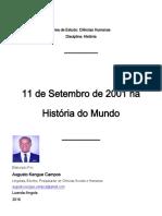 Historia Do Mundo-11 de Setembro de 2001 Na Historia Do Mundo - Augusto Kengue Campos