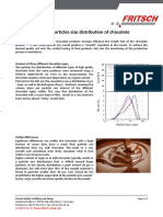 Determination of Particles Size Distribution of Chocolate