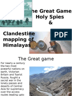 Great Game and Mapping of the Himalayas