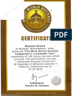 Certificate of AWR