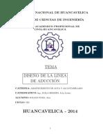 DISEÑO DE LINEA DE ADUCCION