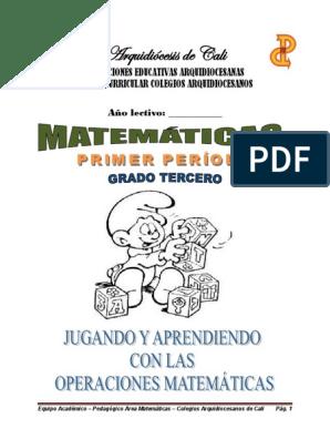 03 Matematicas División Matemáticas Resta