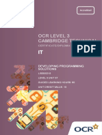 143303 Level 3 Unit 37 Developing Programming Solutions