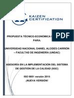 Propuesta Tecnica Economica - Undac - Ingenieria - Consultoria Sgc 2016 - 2017 (1)