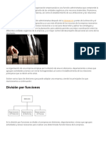 La Organización de Una Empresa