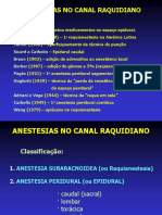 Anestesias No Canal Raquidiano