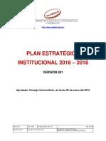 Plan Estrategico Institucional 2016 2018 v001