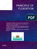 Principle of Floatation