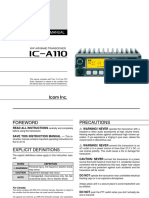 Icom IC-A110 maintenance manual