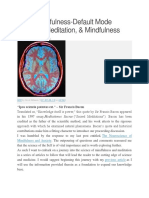 NS of Mindfulness-Default Mode Network-Mediation-Mindfulness