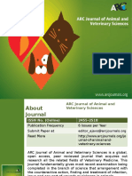 ARC Journal of Animal and Veterinary Sciences