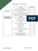 Liste Des Chapitres Maths Didactique 2