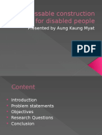 Assessable Construction Design for Disabled People