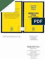 DERECHO Civil Part. Gral. (Carlos Ducci Claro)