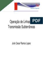 Operação de Linhas de Transmissão Subterrânea