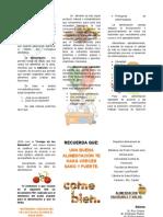 Alimentación Saludable y Salud Triptico