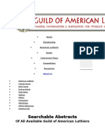 American Lutherie Index