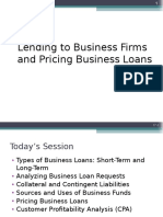 Lending and Pricing Business Loans