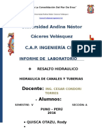 Informe1 de Hidraulica Resalto Hidraulico Copia
